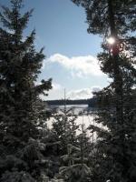 Kirnbergsee im Winter